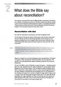 What does the Bible say about reconciliation?