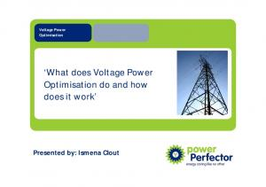 What does Voltage Power Optimisation do and how does it work