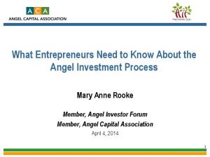 What Entrepreneurs Need to Know About the Angel Investment Process