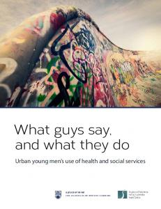 What guys say, and what they do