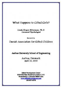 What Happens to Gifted Girls?