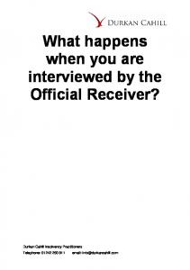 What happens when you are interviewed by the Official Receiver?