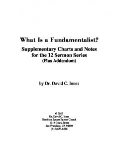 What Is a Fundamentalist?