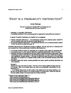 What is a probability distribution?