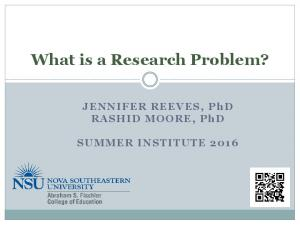 What is a Research Problem?