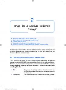 What is a Social Science Essay?