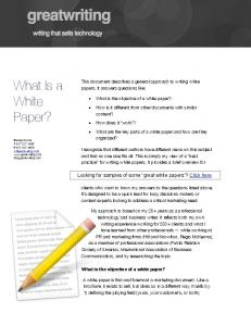 What Is a White Paper?