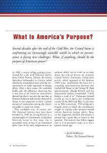 What Is America s Purpose?