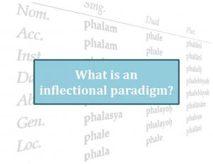What is an inflectional paradigm?