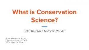 What is Conservation Science?