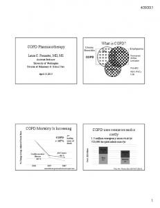 What is COPD? COPD Pharmacotherapy. COPD Mortality Is Increasing