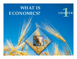WHAT IS ECONOMICS? CHAPTER 1-1
