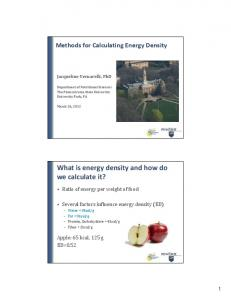 What is energy density and how do we calculate it?