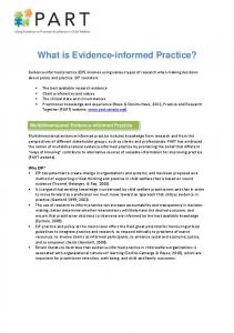 What is Evidence-informed Practice?