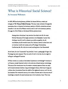 What is Historical Social Science?