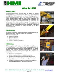 What is HMI? What is HMI? HMI Mission. HMI Vision