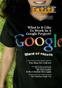What Is It Like To Work In A Google Project?