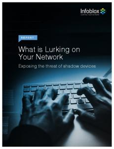 What is Lurking on Your Network