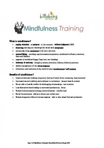 What is mindfulness? Benefits of mindfulness?