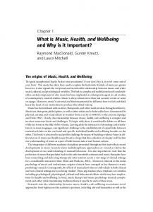 What is Music, Health, and Wellbeing and Why is it Important?