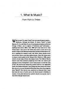 What is music? To many, music can only mean the great masters
