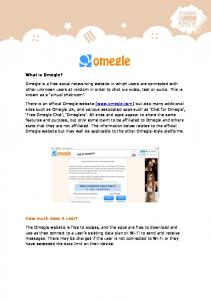What is Omegle? How much does it cost?
