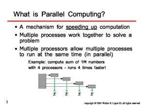 What is Parallel Computing?