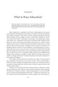 What Is Peace Education?