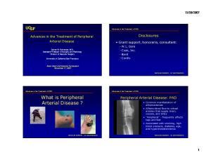 What is Peripheral Arterial Disease?