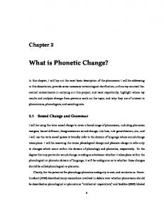 What is Phonetic Change?
