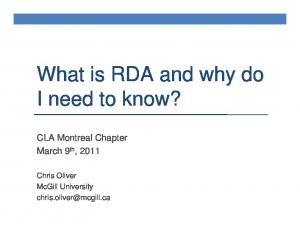 What is RDA and why do I need to know?