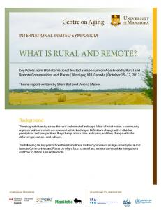 What is rural and remote?