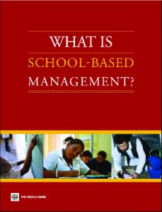 What Is School-Based Management?