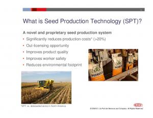What is Seed Production Technology (SPT)?