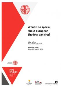 What is so special about European Shadow banking?