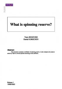 What is spinning reserve?