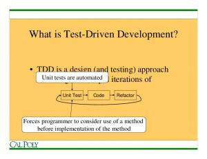 What is Test-Driven Development?