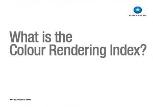 What is the Colour Rendering Index?