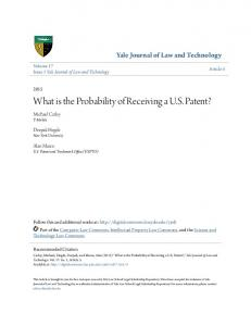 What is the Probability of Receiving a U.S. Patent?