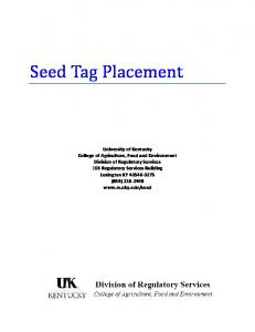 What is the purpose of the seed tag?