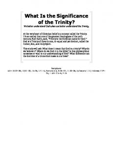 What Is the Significance of the Trinity?