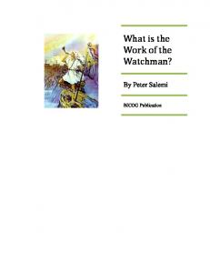 What is the Work of the Watchman?