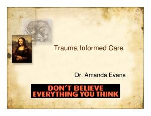 What is Trauma Informed Care?