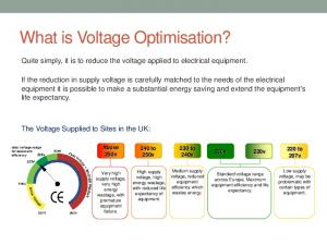 What is Voltage Optimisation?