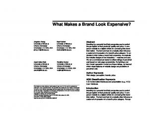 What Makes a Brand Look Expensive?