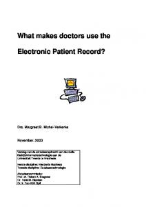 What makes doctors use the