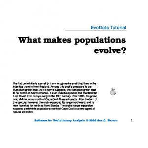 What makes populations evolve?