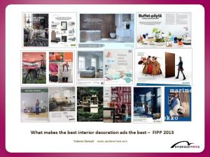What makes the best interior decoration ads the best FIPP 2013