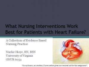 What Nursing Interventions Work Best for Patients with Heart Failure?