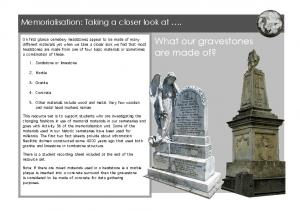 What our gravestones are made of?
